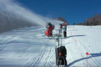 Bristol Mountain Snowmaking in Progress
